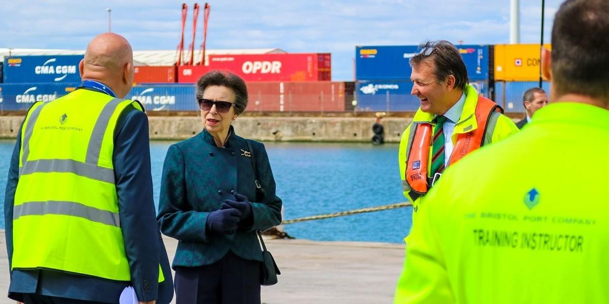 HRH The Princess Royal visits Bristol Port image