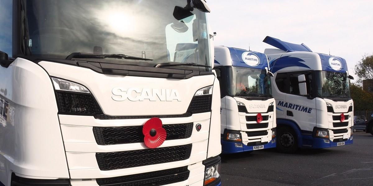 Maritime delivers the Poppy Appeal to UK roads image