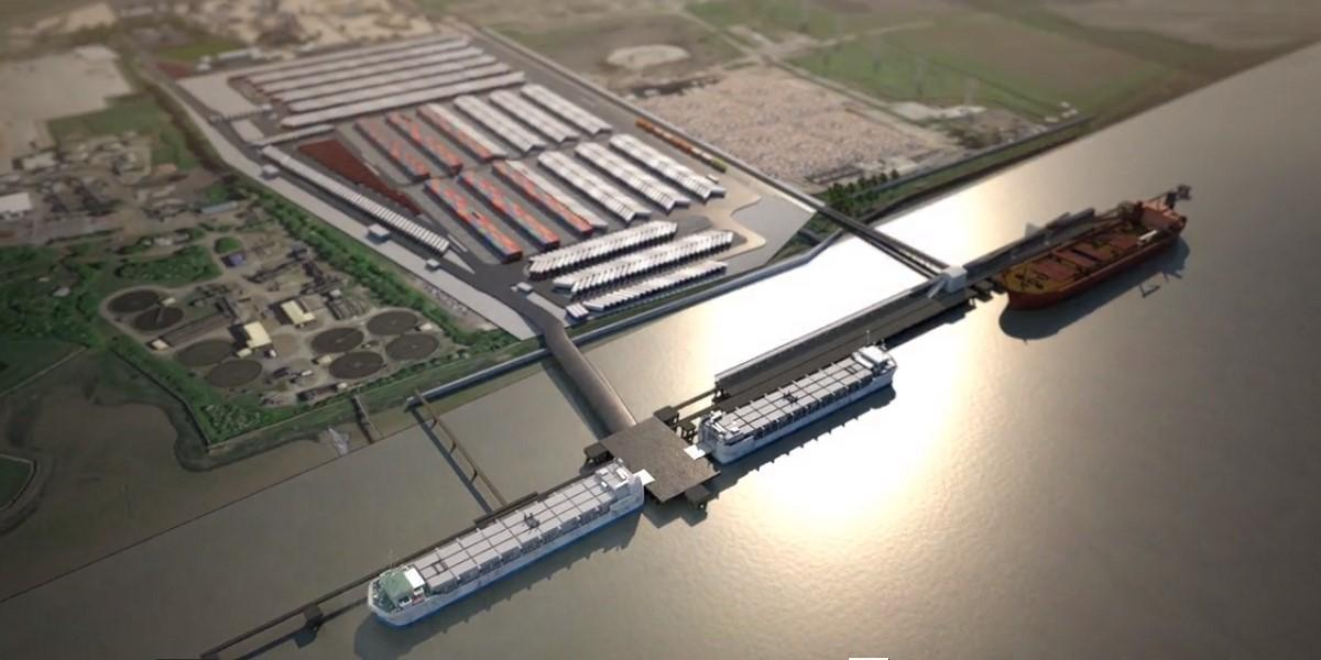 CGI imagery of new London port released image