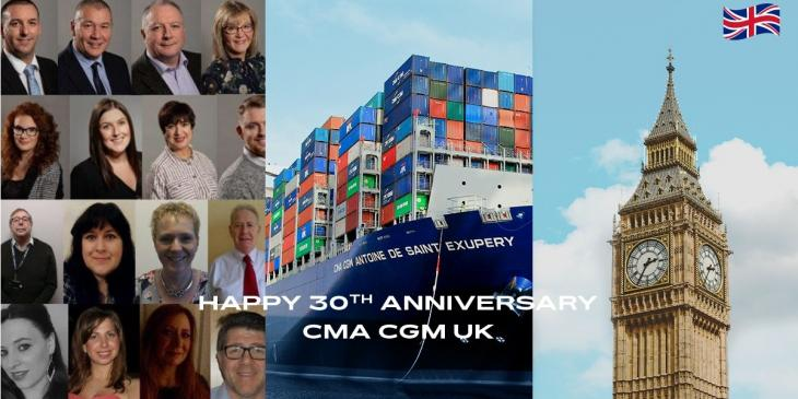 CMA CGM celebrates 30 years of commitment to the United Kingdom image