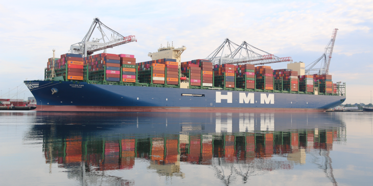 UK debut for biggest container ship to call at DP World Southampton image